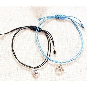 Dog Lover macrame bracelet set 🐶